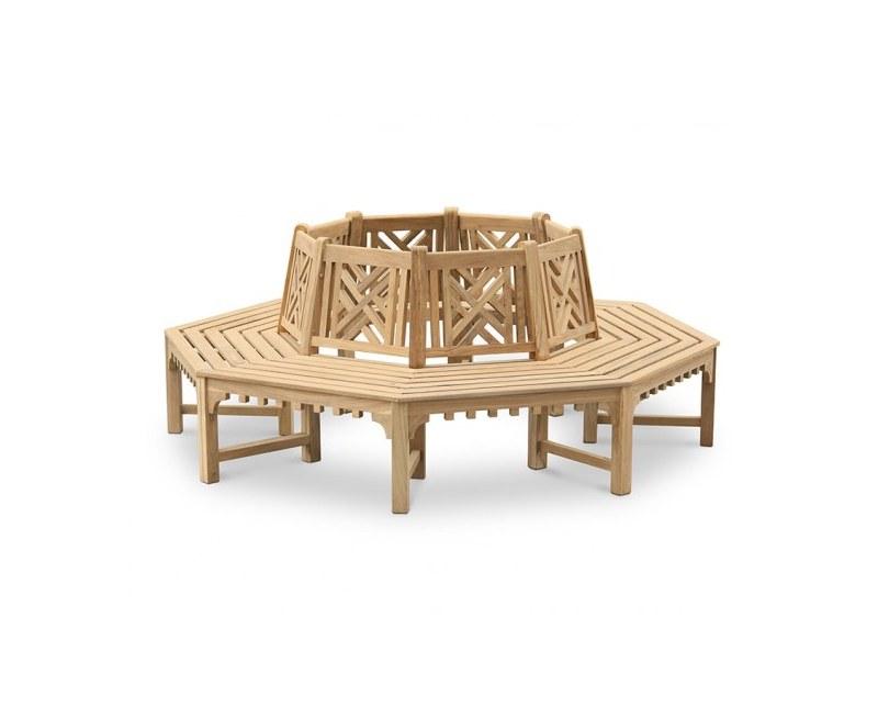 Chartwell Decorative Teak Tree Seat, Octagonal – 2.2m
