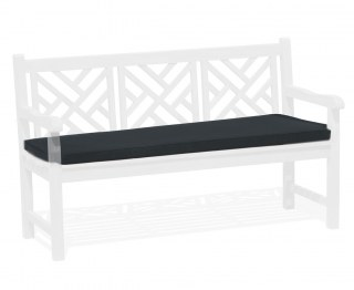Chartwell Garden Bench Seat Pad - Black