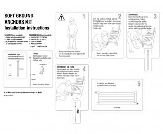 Ground Anchor Kit for Soft Surfaces – Installation Tool Included