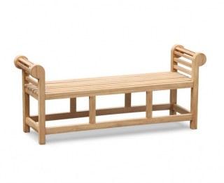 Lutyens-Style Teak Backless Garden Bench – 1.65m