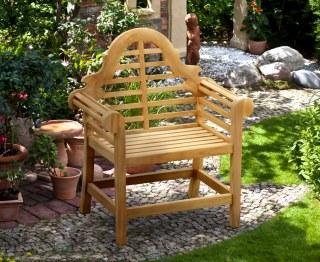 Lutyens-Style Teak High Back Garden Armchair