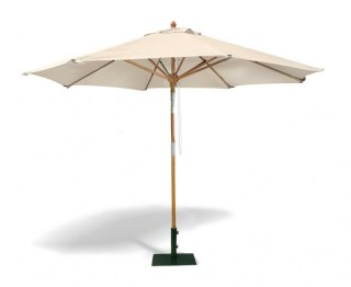Octagonal 3m Wooden Parasol with Pulley