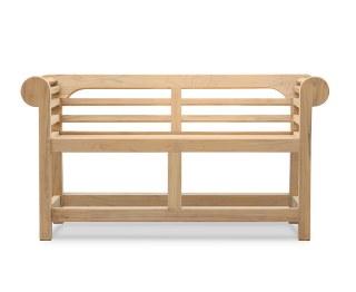 Lutyens-Style Teak Low Back Garden Bench - 1.35m by Jati