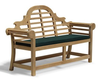 Teak Luchens-Style Bench with Cushion