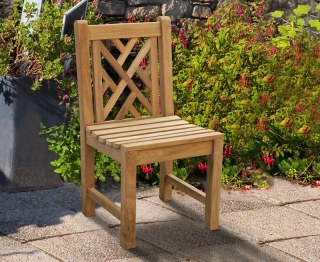 Chartwell Decorative Teak Garden Dining Chair